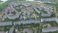 Residential high-rise buildings. aerial view Stock Footage