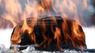 Centennnial flame Parliament hill Stock Footage