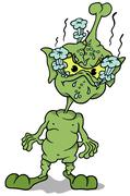 Green Extraterrestrial Standing Piirros