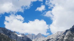 Time Lapse of Heavenly Clouds at Mount Whitney in Sierra Nevada -Tilt Down- Stock Footage