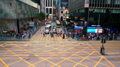 PEDESTRIAN CROSSING CENTRAL HONG KONG CHINA Stock Footage