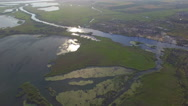 River and lake. aerial view Stock Footage