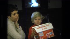 1975: children are seen indoors playing CALIFORNIA Stock Footage