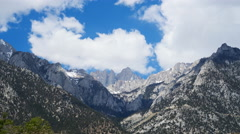 Time Lapse of Heavenly Clouds at Mount Whitney in Sierra Nevada -Zoom In- Stock Footage