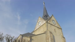Lower Normandy France beautiful Eglise Saint-Leonard of Alencon in by the day Stock Footage