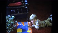 1975: boys favorite to play with excitement in his face CALIFORNIA Stock Footage
