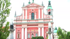 Friars Minor church in Ljubljana Stock Footage