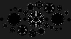 CIRCULAR VJ LOOPS - MOSAICO GALAXYA - KALEID GOA B/W Stock Footage