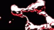 Glowing Red Metal Liquid - 5 Stock Footage