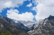 6K Time Lapse of Heavenly Clouds at Mount Whitney in Sierra Nevada  Stock Footage