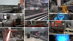 "Split screen ""Metal structures plant"". Stock Footage"
