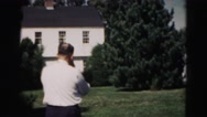 1962: people gathered outdoors playing some type of game with a ball HAGERSTOWN Stock Footage