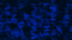 Abstract Loopable Background of Blue Glass Polygonal Surface Stock Footage