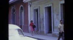 1964: a woman is seen posing SAN JUAN, PUERTO RICO Stock Footage
