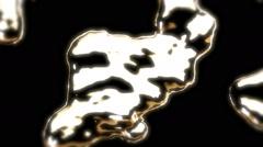 Gold Metal Liquid - 22 Stock Footage