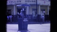 1964: traffic controlled by an officer in the cabin in the street SAN JUAN Stock Footage
