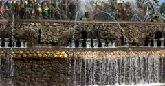 "Bright color mosaic smalti fountain ""Stone flower"" at ENEA Stock Footage"