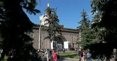 "Pavilion ""Ukraine"" on VDNH, the monument of Soviet constructivism Stock Footage"