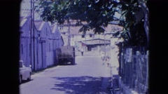 1964: sleepy island warehouse city district SAN JUAN, PUERTO RICO Stock Footage