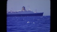 1964: ships on water SAN JUAN, PUERTO RICO Stock Footage