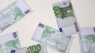 Euro paper growing money Stock Footage