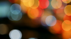 Blurry street lights at night. Stock Footage