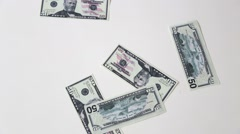 Dollar paper growing money Stock Footage