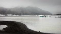 View of Svinafellsjokull Glacier  Stock Footage