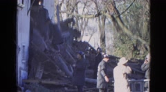1968: various firefighters inspecting a home after a devastating fire WAUCONDA, Stock Footage