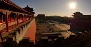Sun rise  on the forbidden city Stock Footage