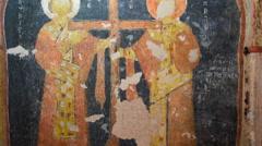 Funural Virgin Mary Stock Footage