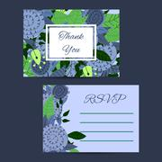 Cute invitation template with flower decoration Stock Illustration