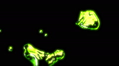 Lime Green Metal Liquid - 49 Stock Footage
