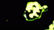 Lime Green Metal Liquid - 50 Stock Footage