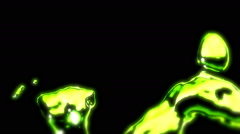 Lime Green Metal Liquid - 52 Stock Footage