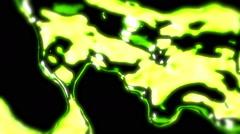 Lime Green Metal Liquid - 51 Stock Footage