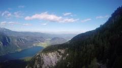 Aerial view of Bohinj lake, Slovenia Stock Footage