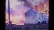 1968: a fire is seen drenched in a area WAUCONDA, ILLINOIS Stock Footage