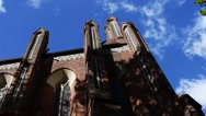 Church of Holy Apostles James and Philip in Torun Stock Footage