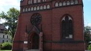 Church of St. Stephen in Torun, poland Stock Footage
