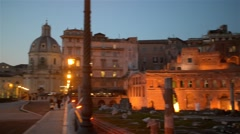 Trajans Market (Mercati di Traiano) in Rome, Italy Stock Footage