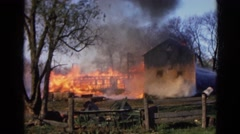 1968: a area is seen with fire WAUCONDA, ILLINOIS Stock Footage