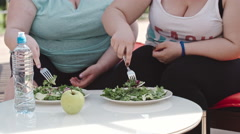 Green Salad for Weight Loss Stock Footage