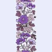 Floral bush retro on white background vector, hand drawn decorative flowers Stock Illustration