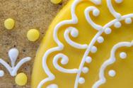 Baking Decoration. Close-up of part of gingerbread  Stock Photos