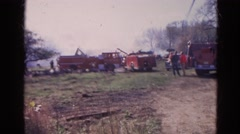 1968: in a mishap event disaster recovery team is in action with its enforcement Stock Footage