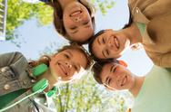 Group of happy teenage friends Stock Photos
