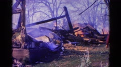 1968: a forest fire is seen WAUCONDA, ILLINOIS Stock Footage