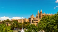 Cathedral of Santa Maria of Palma, Spain Stock Footage