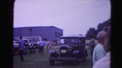 1962: antique car show visitors browsing admiring and socializing HAGERSTOWN Stock Footage
